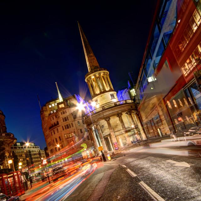 """Langham Place, London"" stock image"