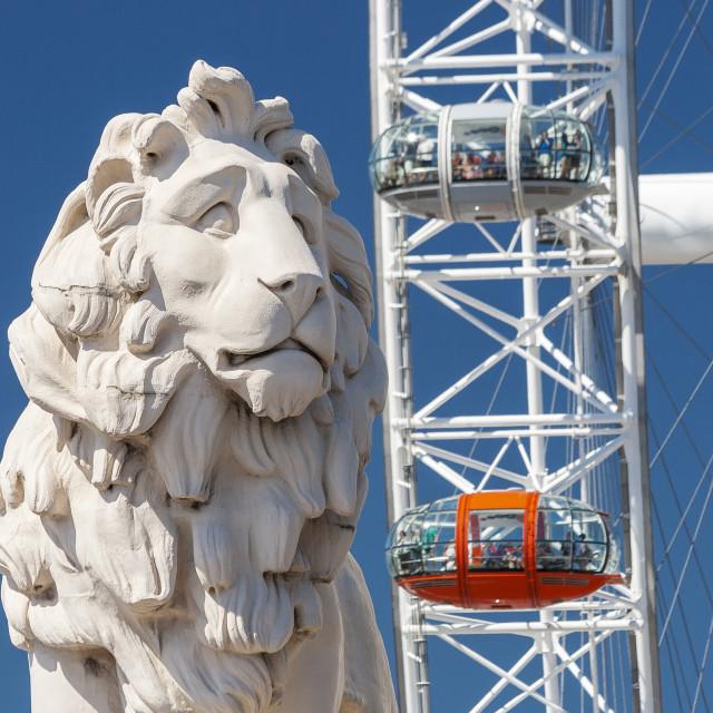 """South Bank Lion"" stock image"