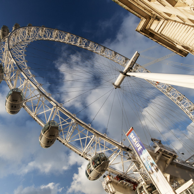"""The London Eye and County Hall"" stock image"