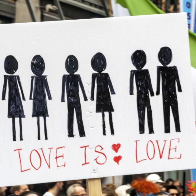 """Love Is Love"" stock image"