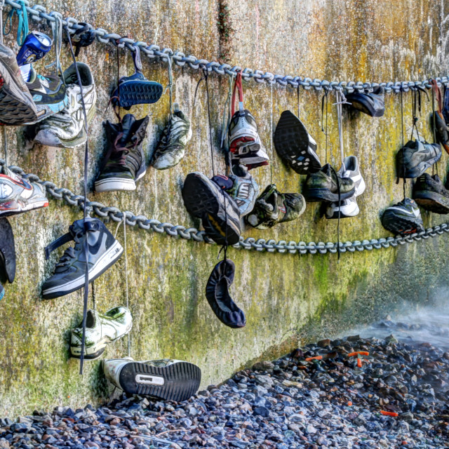 """Abandoned Shoes"" stock image"