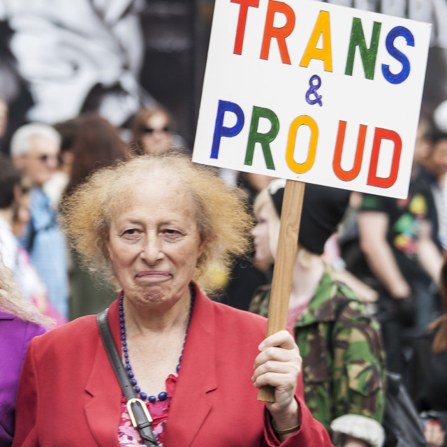 """Trans And Proud"" stock image"