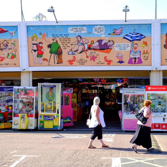 """Skegness Amusements Arcade ."" stock image"