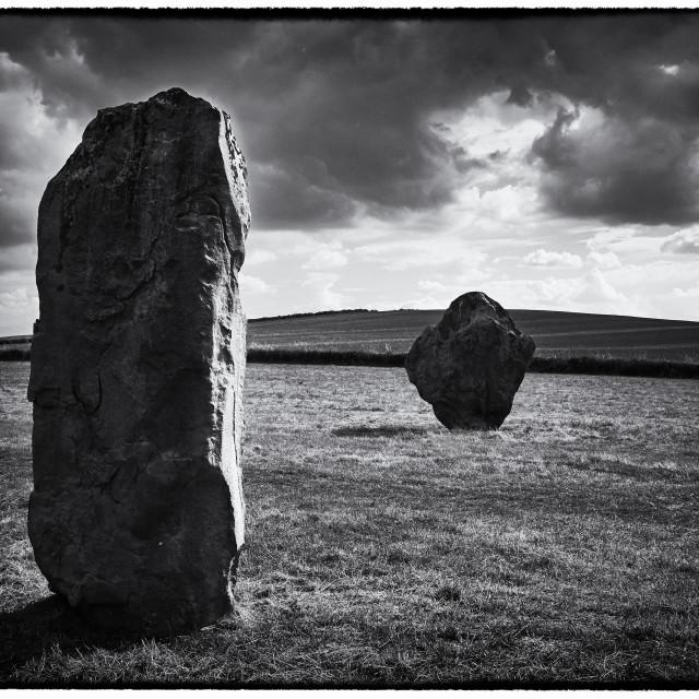 """""""Avebury Stones"""" stock image"""