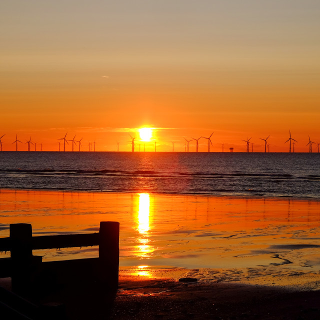 """Sunrise North Sea ."" stock image"