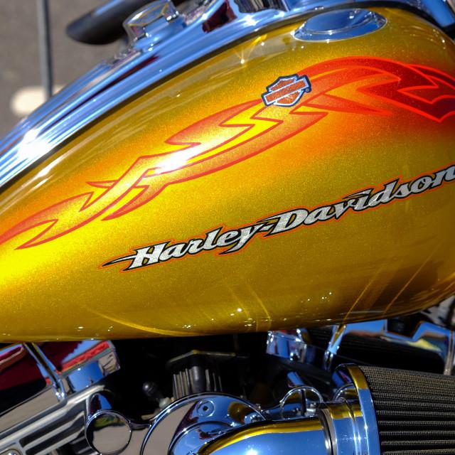 """Harley Davidson Motorcycle ."" stock image"