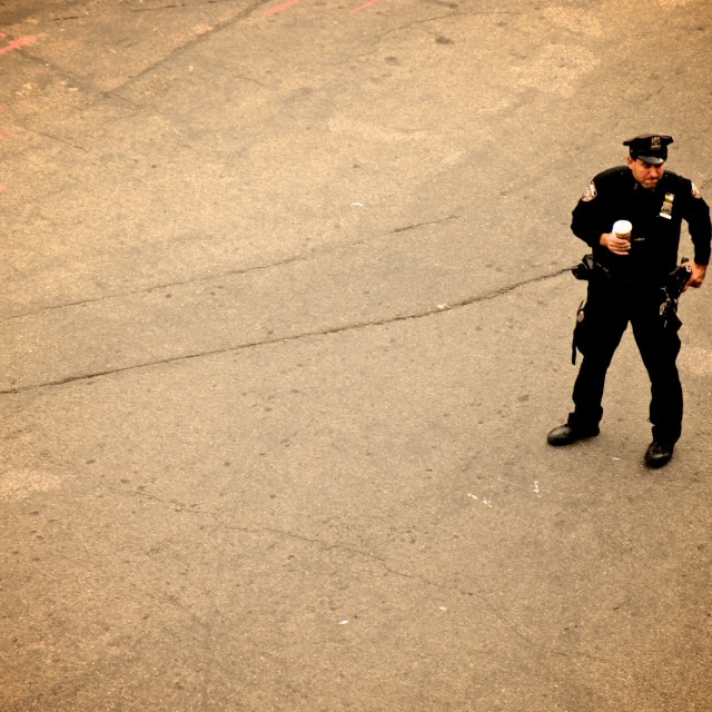 """Policeman NYPD"" stock image"