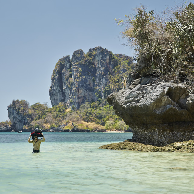 """Back packing in Thailand"" stock image"