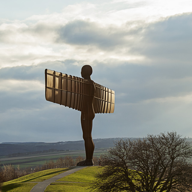 """The Angel Of The North, Gateshead"" stock image"