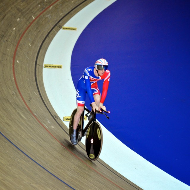 """Bradley Wiggins Team GB"" stock image"
