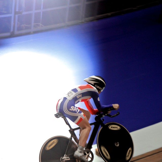 """Team GB world cup 2011 race"" stock image"