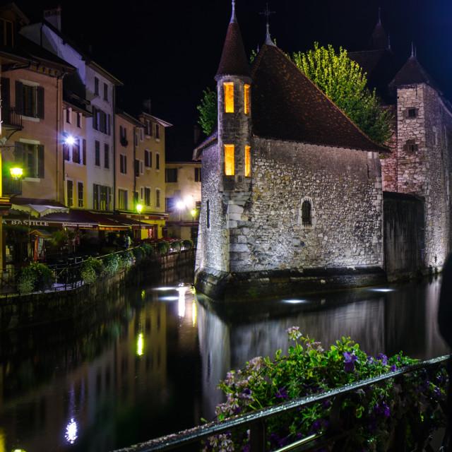 """""""Annecy - Palais de l'Isle"""" stock image"""