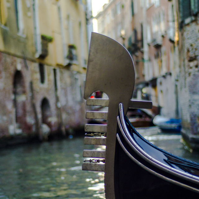 """""""A Gondola passes by..."""" stock image"""
