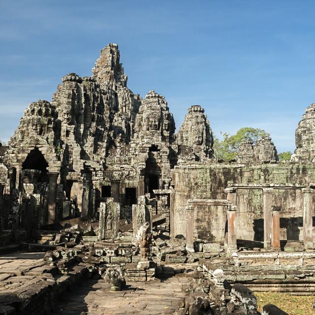 """""""Bayon Temple, Angkor Thom, Cambodia"""" stock image"""