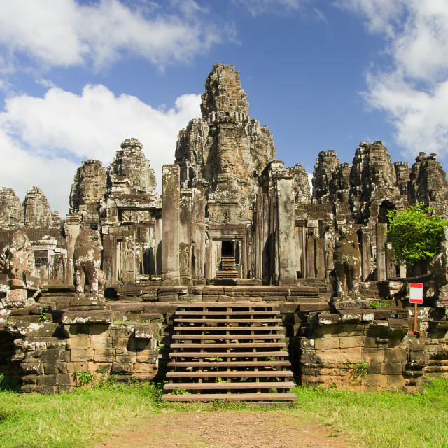 """Bayon Temple in Cambodia"" stock image"
