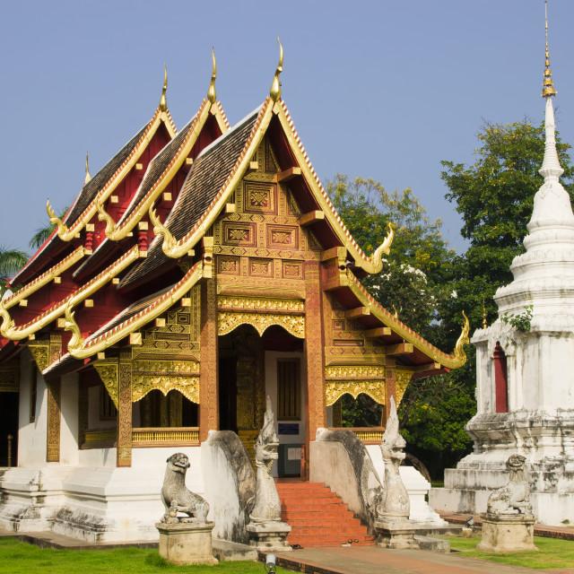 """Chiang Mai Buddhist Temple"" stock image"