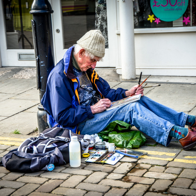"""Street Painter"" stock image"