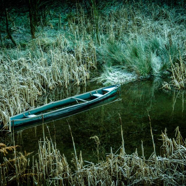 """""""Abandoned Canoe"""" stock image"""