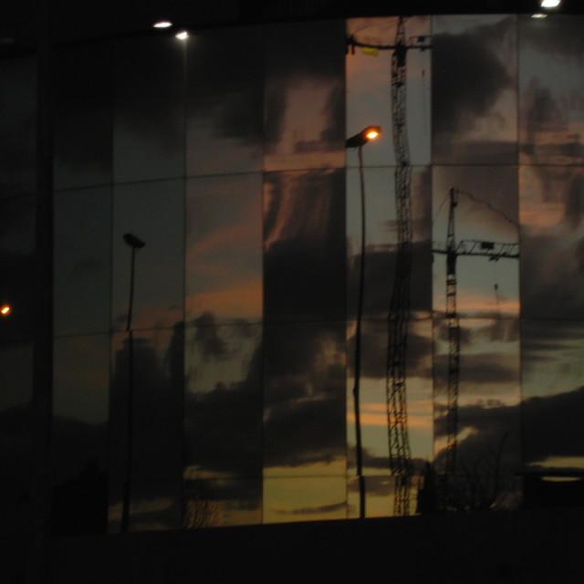 """""""Reflected Sunset"""" stock image"""