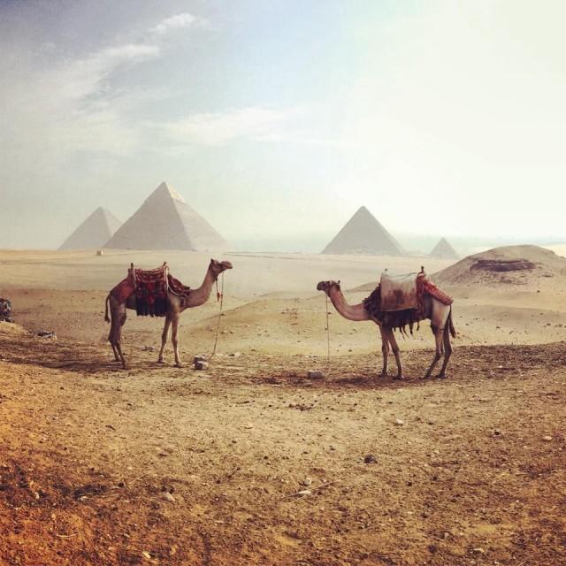 """""""Hazy day at the Pyramids"""" stock image"""