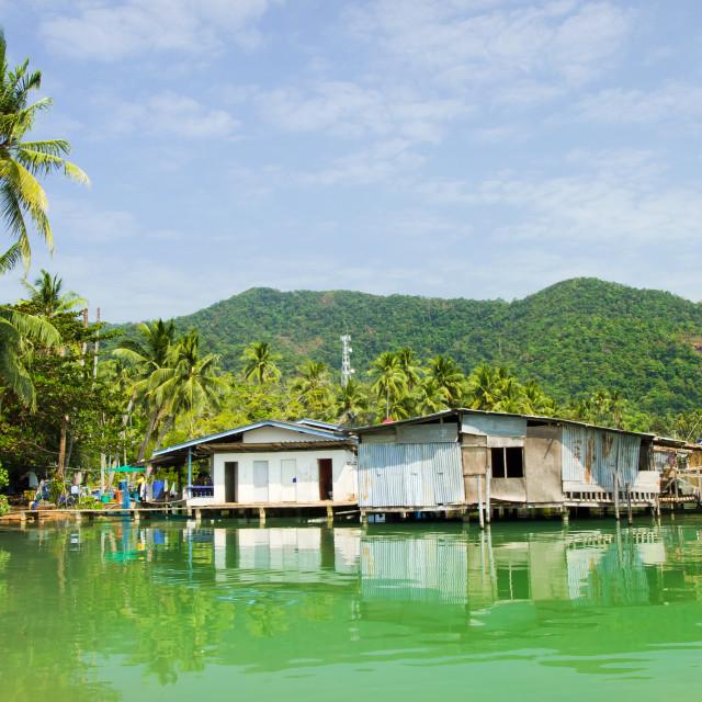 """""""Bang Bao Bay Village"""" stock image"""