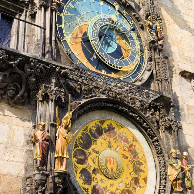 """Astronomical Clock in Prague"" stock image"