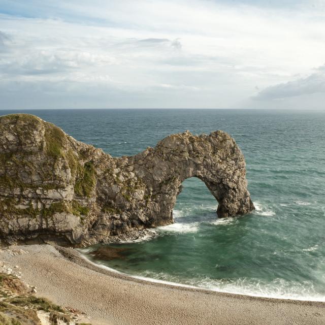 """""""Durdle Door, Dorset, England"""" stock image"""