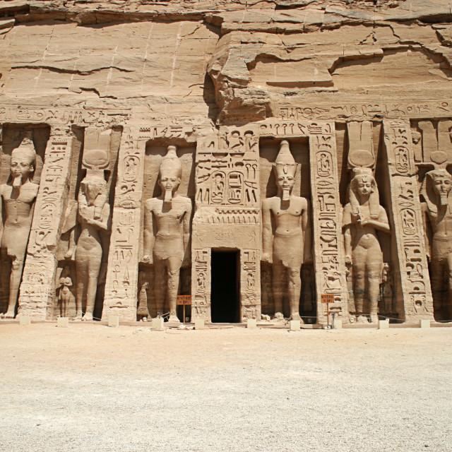 """""""The Temple of Hathor and Nefertari, Abu Simbel, Egypt"""" stock image"""