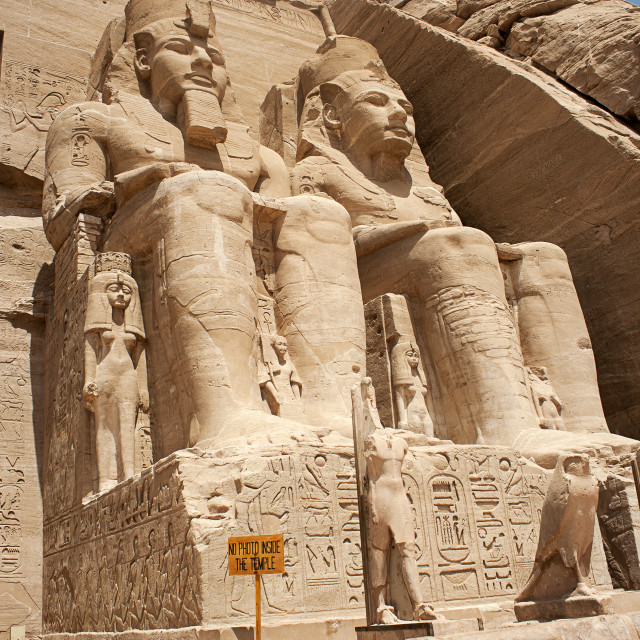 """The Great Temple, Abu Simbel , Egypt"" stock image"