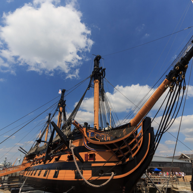 """HMS Victory"" stock image"