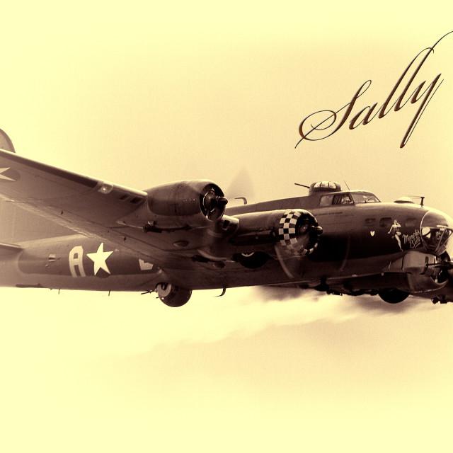 """B17 Bomber"" stock image"