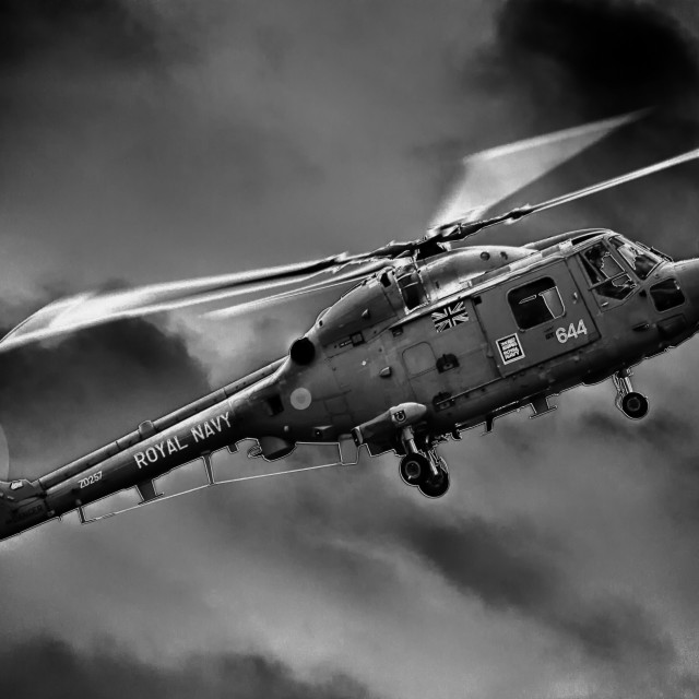"""Royal Navy Lynx"" stock image"