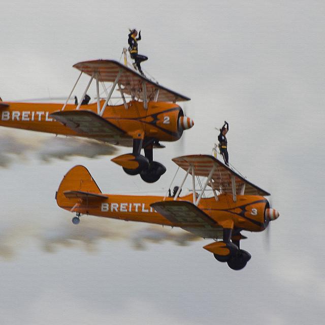 """Breitling Wingwalkers"" stock image"
