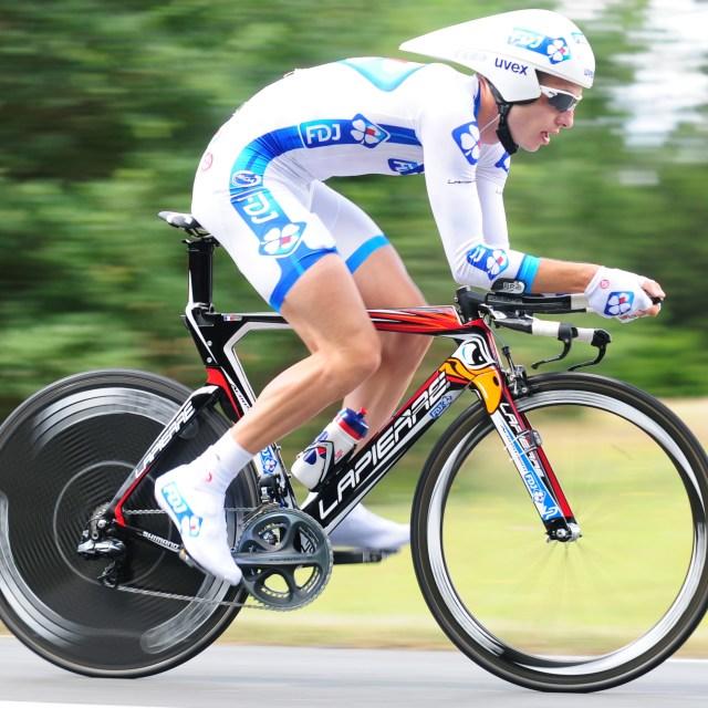 """""""Tour de France time trial"""" stock image"""