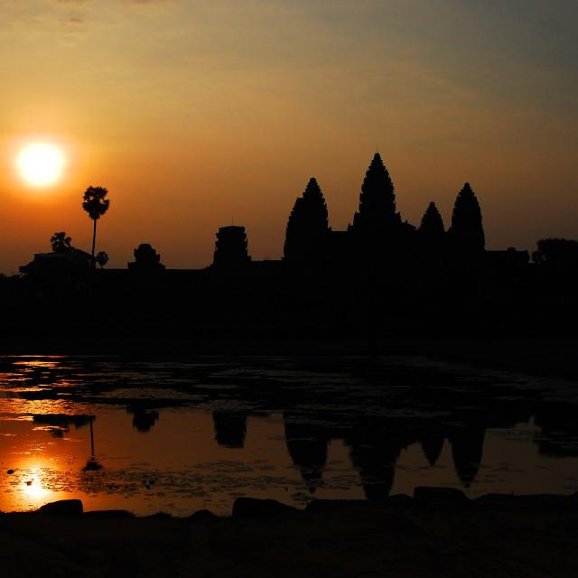 """""""Sunset at Angkor Wat"""" stock image"""