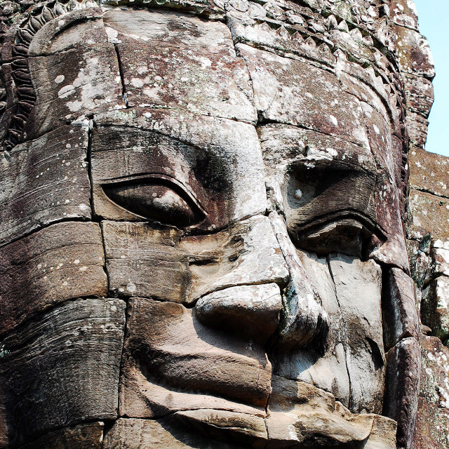 """""""Face at Angkor Wat"""" stock image"""