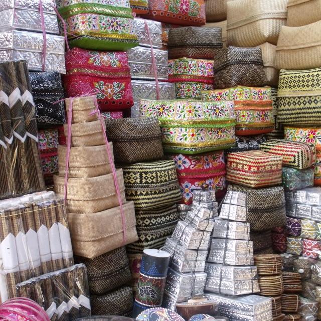 """""""Baskets at Ubud Market Bali"""" stock image"""