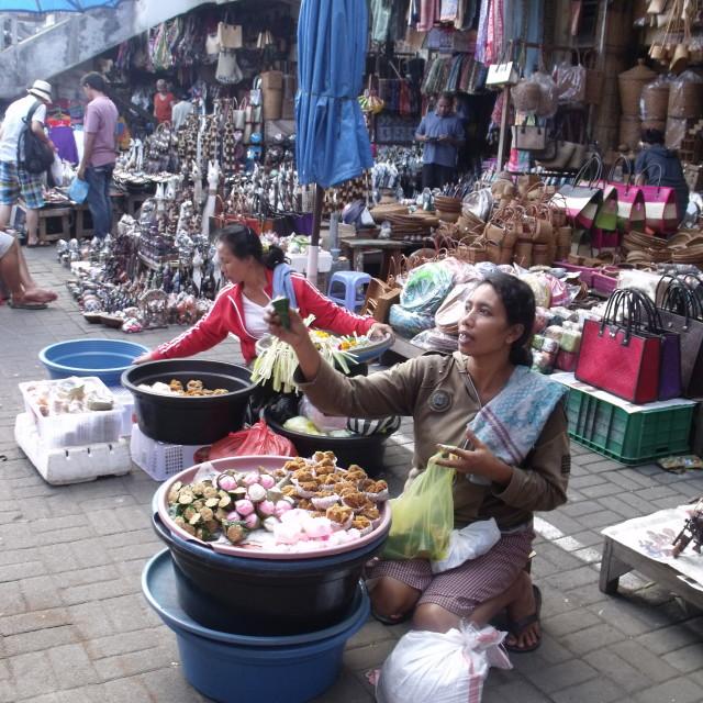 """""""Flower market Ubud Bali"""" stock image"""