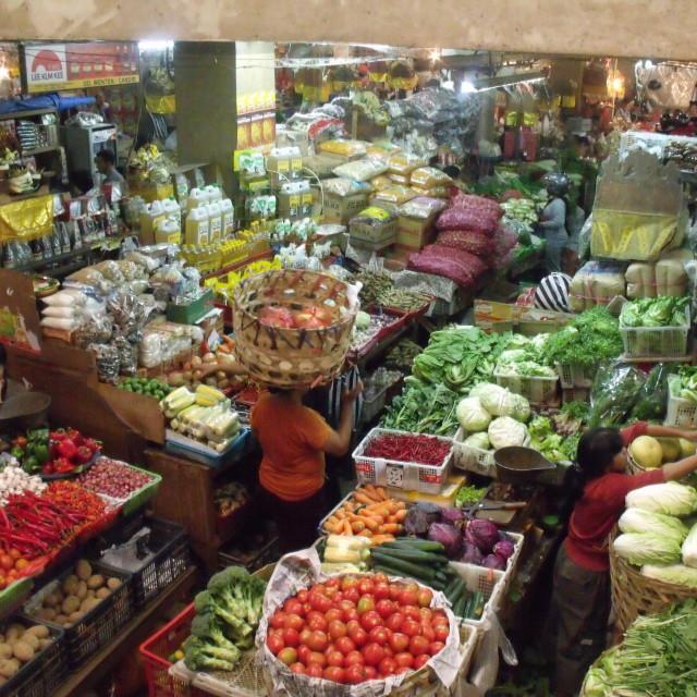 """""""Fruit and Veg Market Denpasar Bali"""" stock image"""