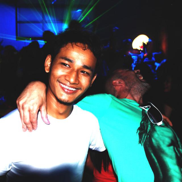 """2 Men in a Club in Bangkok"" stock image"