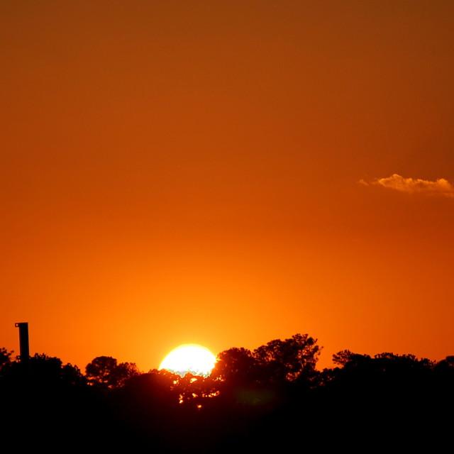 """Sunset over Alabaster"" stock image"