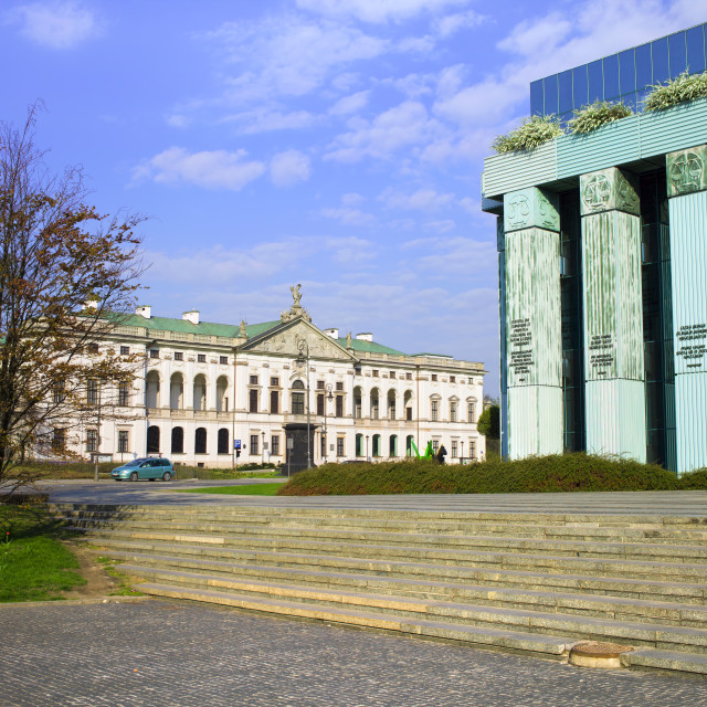 """""""National Library and Supreme Court in Warsaw"""" stock image"""