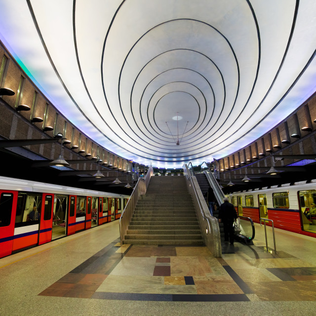 """Contemporary Subway Platform"" stock image"
