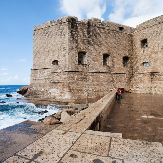 """Dubrovnik Fortification"" stock image"