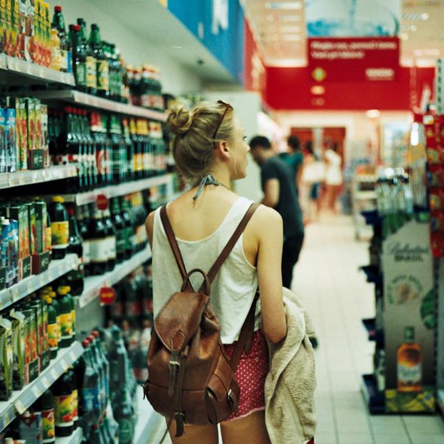 """Croatian Supermarkets"" stock image"