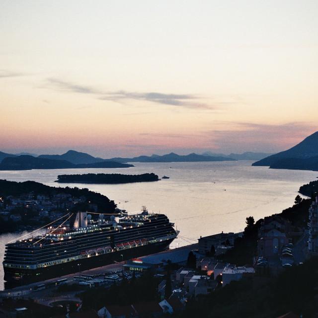 """Dubrovnik Sunset"" stock image"