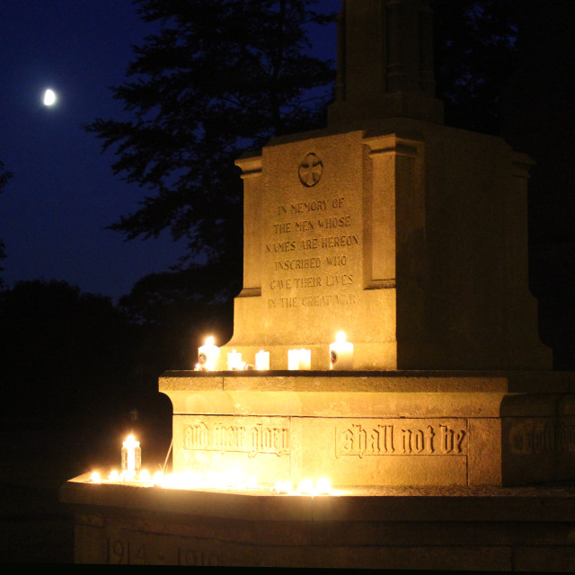 """Candles on War Memorial"" stock image"