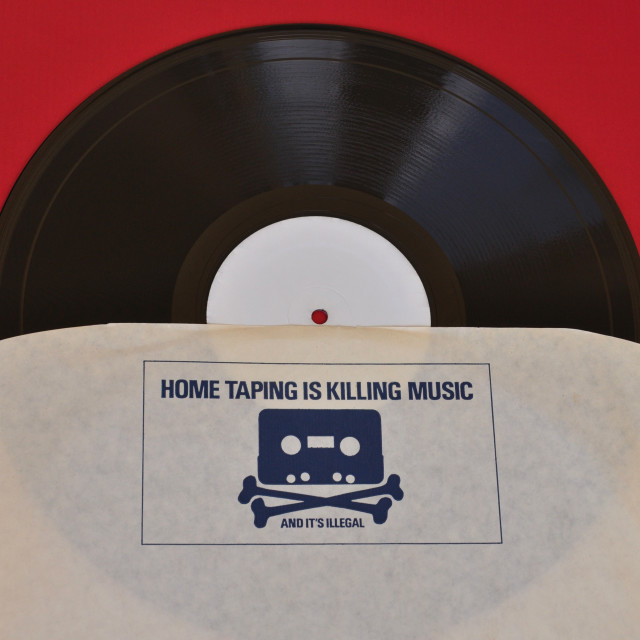 """""""home taping is killing music"""" stock image"""