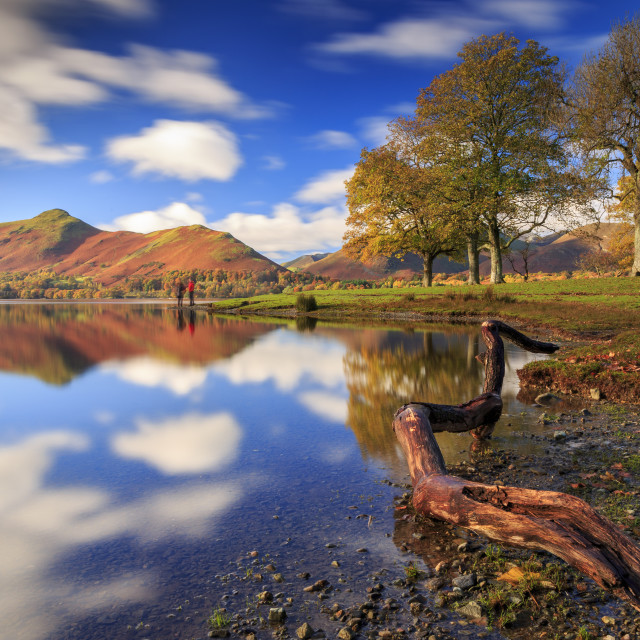 """Lakes in Autumn"" stock image"