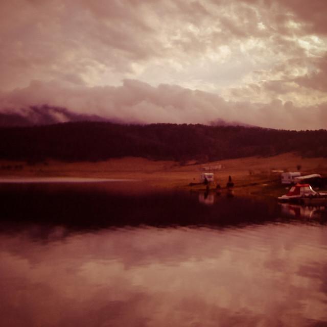 """Cloudy lake"" stock image"